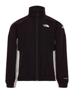 Fringed quilted down jacket