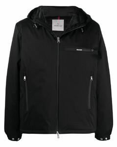 zip-up hooded padded jacket