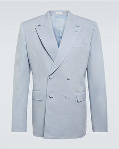 VLTN patch denim shirt