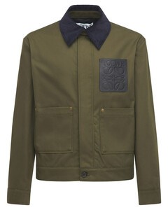 Short Cotton Gabardine Workwear Jacket