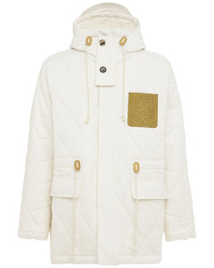 Quilted Hooded Cotton Voile Parka