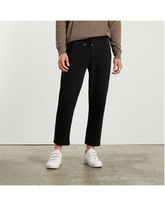 Red gabardine jogging trousers