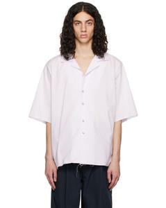 Red gabardine shirt
