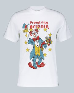 小丑插图装饰棉质T恤