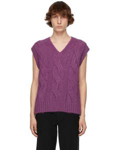 紫色麻花纹马甲