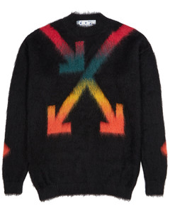 Black arrows-intarsia jumper