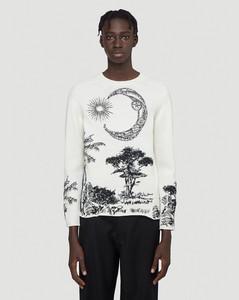 Dream Embroidered Sweater in White