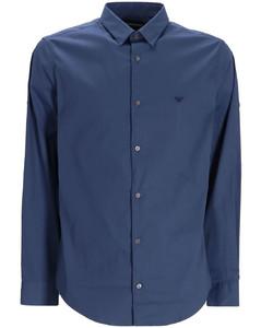 Men's Long Sleeve Polo Shirt - Heather Polo Black