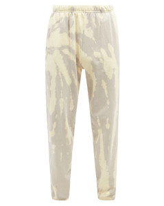Tie-dye brushed-back cotton track pants