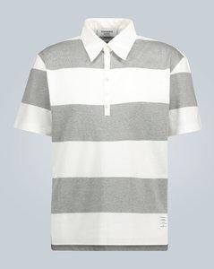 条纹棉质Polo衫