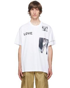 """白色""""Love""""Swan T恤"""