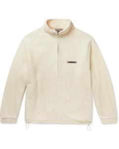 Logo-Appliquéd Fleece Half-Zip Sweater