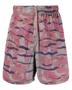Branded-tape cotton-jersey zipped hoodie