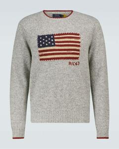 Flag wool-blend sweater