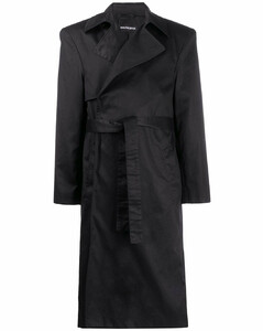 structured shoulders trench coat