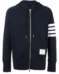 Blue cotton hoodie 4-bar