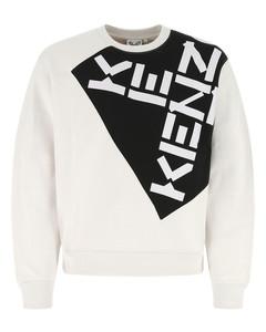 Chalk cotton blend sweatshirt