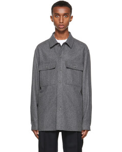灰色衬衫夹克