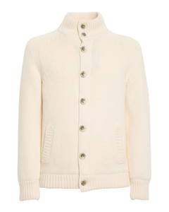 Knitted puffer jacket