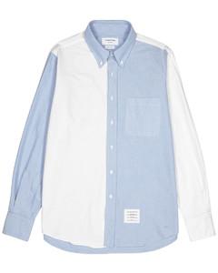 Two-tone piquécotton shirt