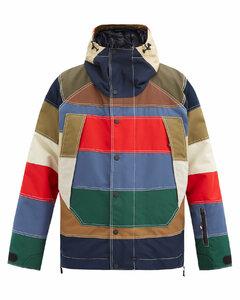Chetoz striped down jacket
