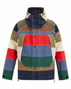 Chetoz striped down jacket
