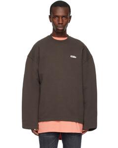 Upside-down logo cotton-jersey top