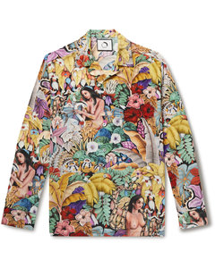 Shiny ripstop nylon fabric Agar down jacket