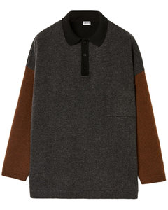 Polo sweater in wool and cashm...