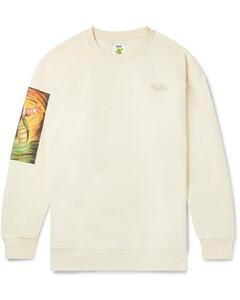 Monster in My Pocket Printed Fleece-Back Cotton-Jersey Sweatshirt