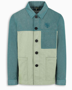 ELN green bicolor workwear jacket