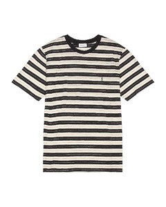 Striped Tee in Gray,Neutral,Stripes