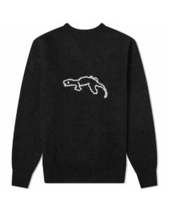Gekko Embroidered Crew Knit