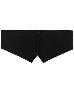 Bonded Cashmere Coat W/ Leather Lapels