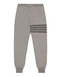 4 Bar Loopback Sweatpants in Gray