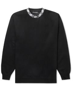 Oversized Logo-Jacquard Fleece-Back Jersey Sweatshirt