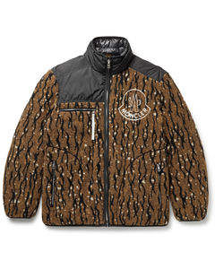 2 Moncler 1952 Inagi Reversible Printed Fleece and Shell Down Jacket