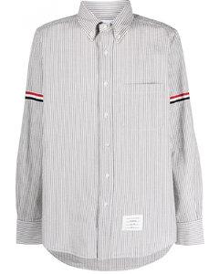 Logo-patch cotton polo shirt