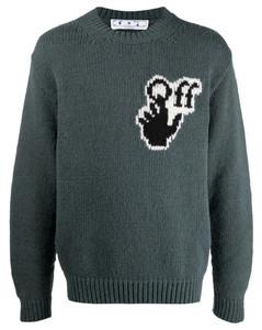 logo-intarsia jumper