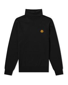 Tiger Crest Roll Neck Knit