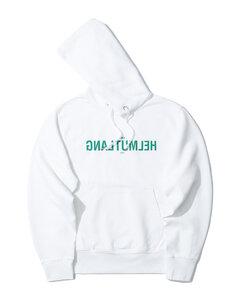 Reverse logo print hoodie
