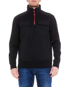 Contrasting panel puffer jacket