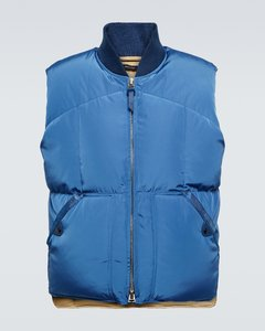 Leather Quilted-Shoulder Jacket