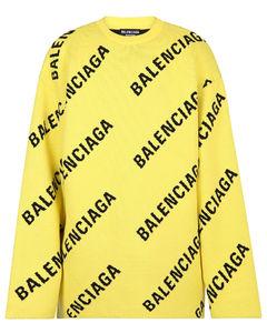 Allover Logo Intarsia Sweater