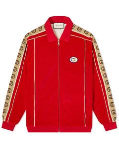 Velour Taped Oversized Track Jacket