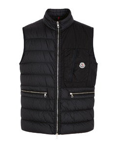 Capy logo-print quilted nylon gilet