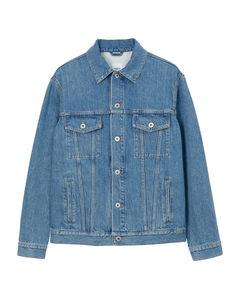 Grey cotton logo embroidery polo shirt