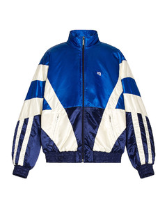 Padded Tracksuit Jacket in Blue