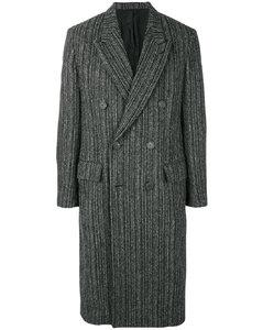 双排扣长大衣