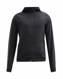 City Sweat zip-through jersey hooded sweatshirt